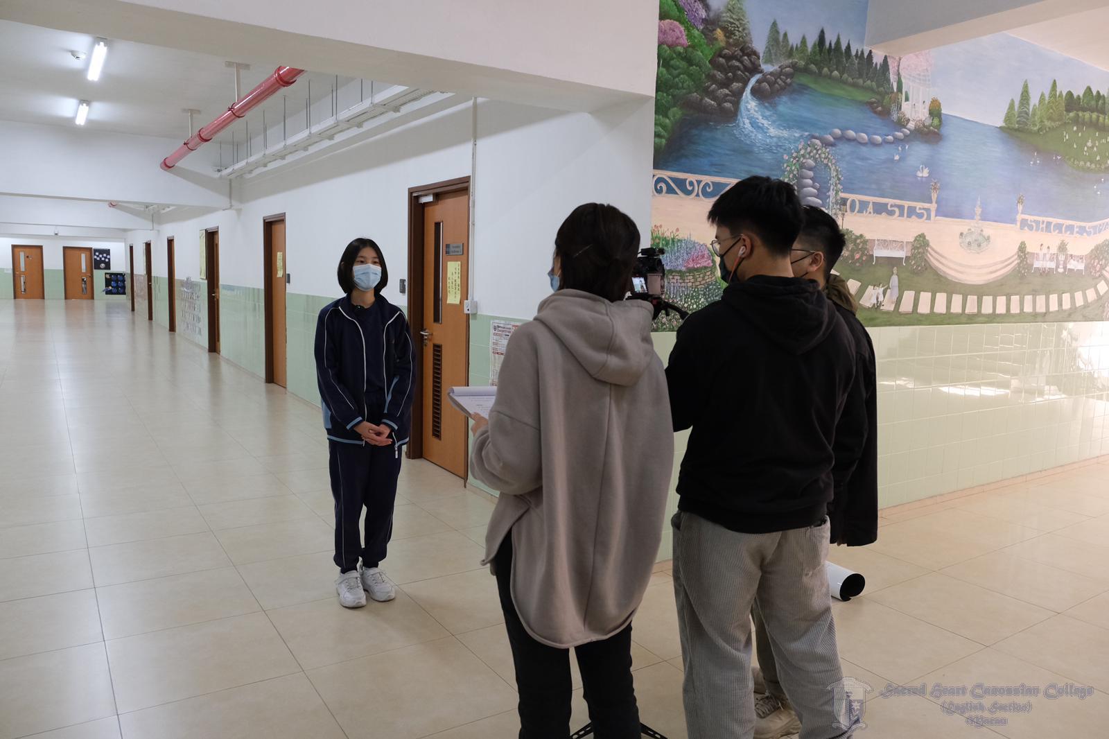 參與活動同學接受廉署訪問
