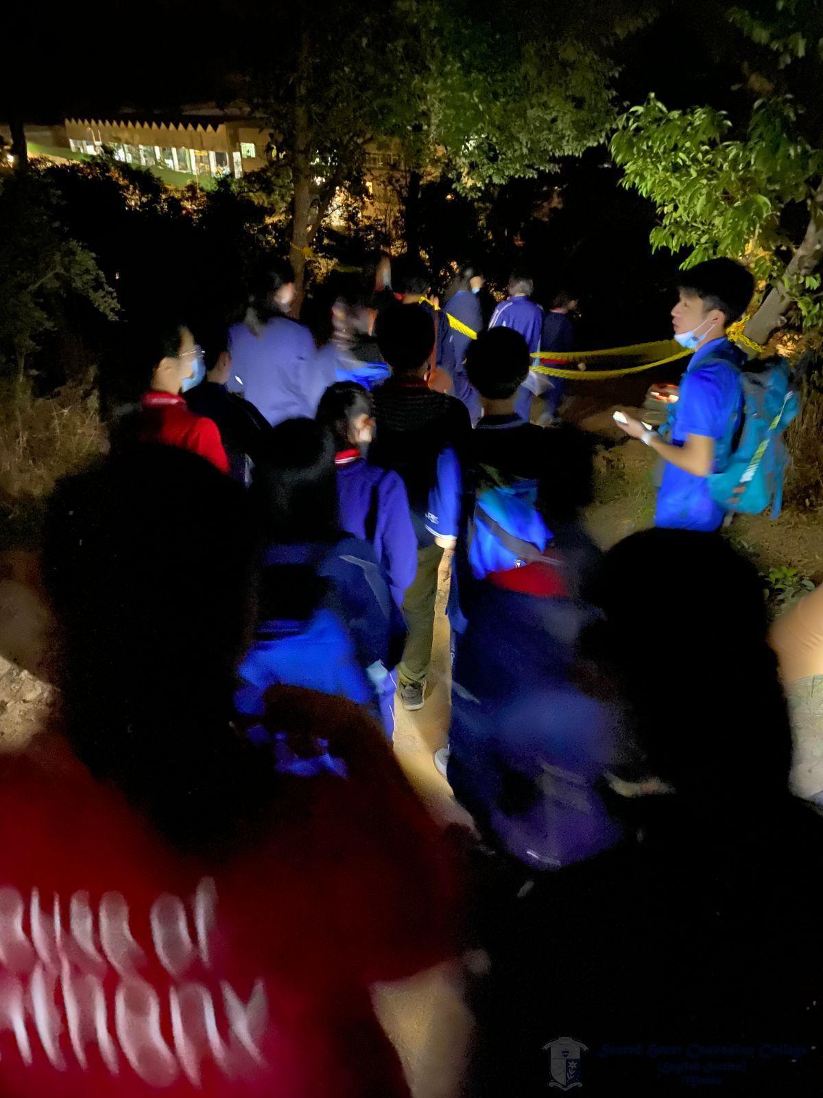 學社幹事於傍晚進行登山活動活動,藉此學習野外定向技巧。要完成此項任務,她們必需互相信任、分工合作,發揮團隊的力量。