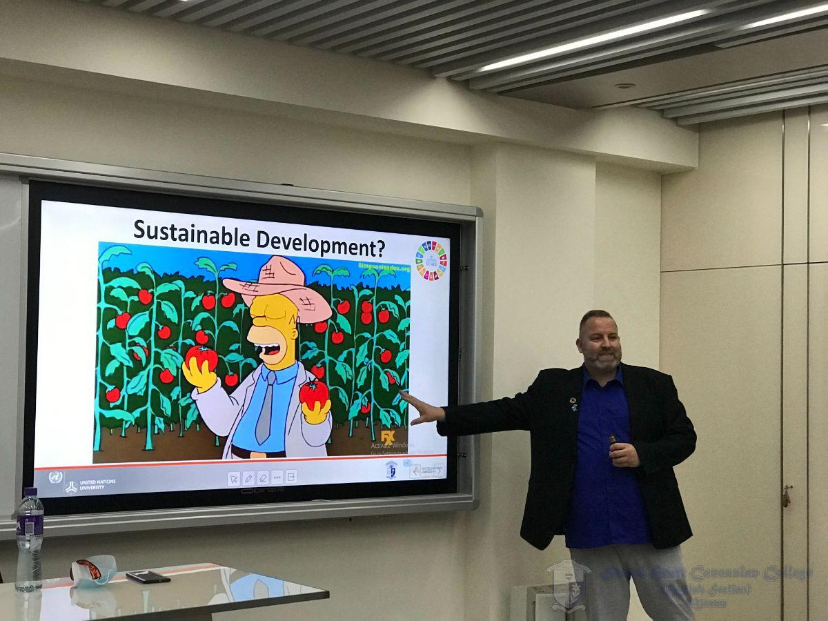SDGs were introduced to our students