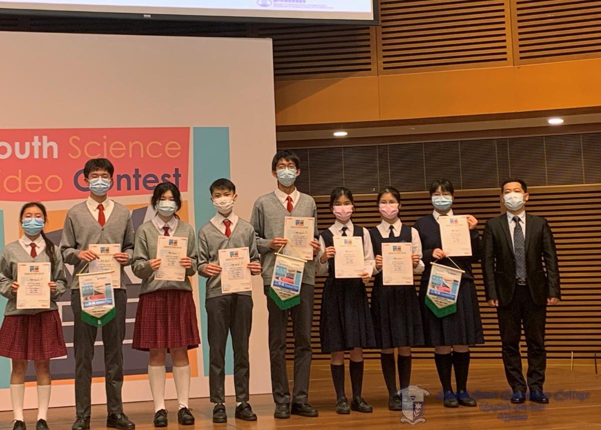 獲獎同學與頒獎嘉賓合照