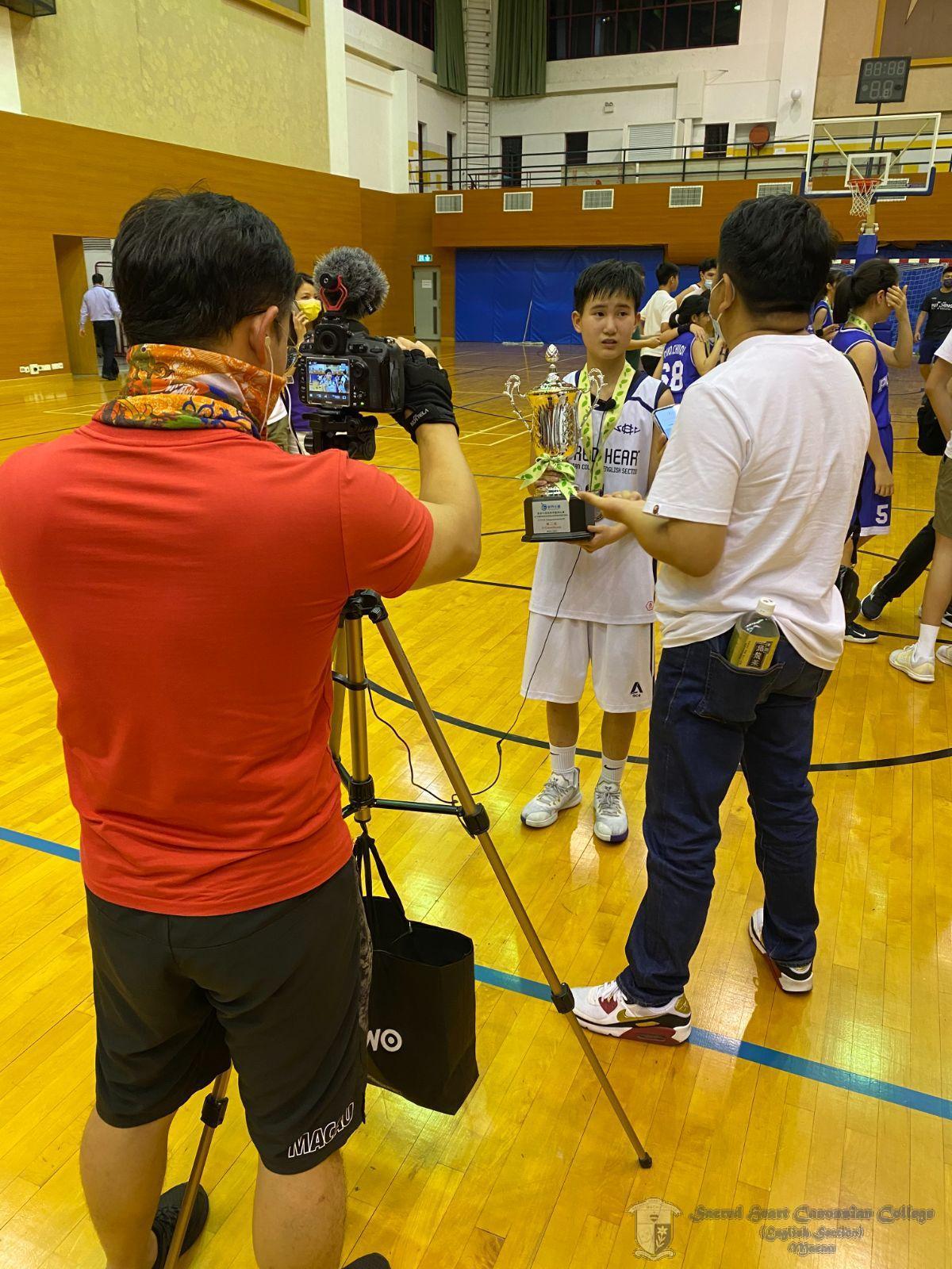 決賽中表現出色的隊長Cherry Lei於賽後接受澳門體育頻道訪問