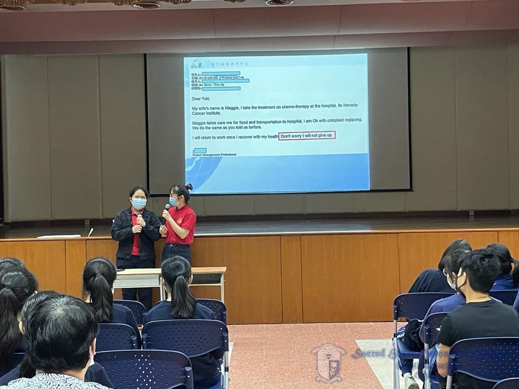 Joana 及Helen 學姐分享修讀護理學學士課程的心得