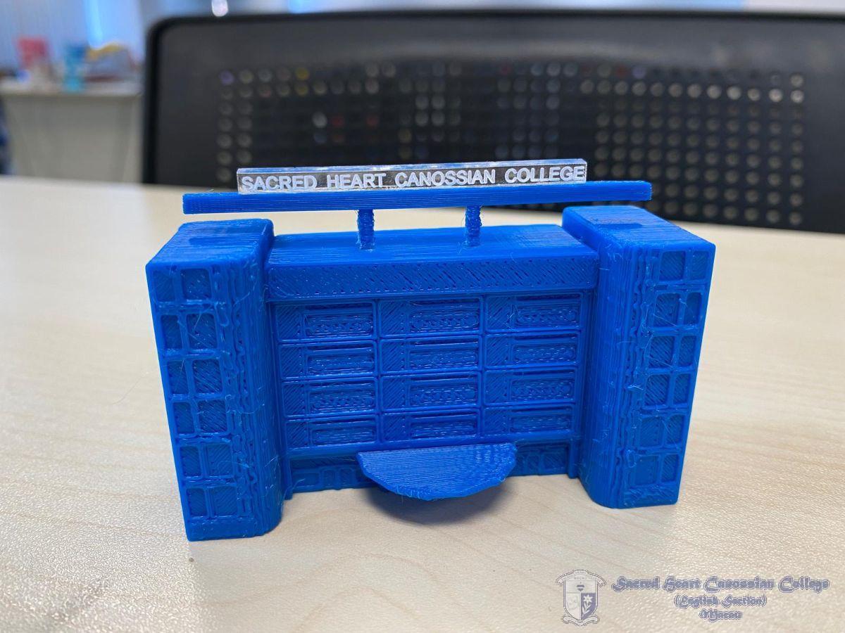本校學生所設計之學校3D打印模型