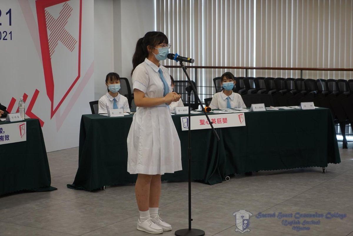 F5B Wandy Chao在「全澳青年辯論公開賽2021少青組」取得初賽最佳辯論員奬